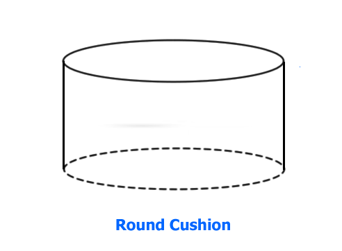 Foam Round Back Cushion - Soft Foam and Medium Firm Foam